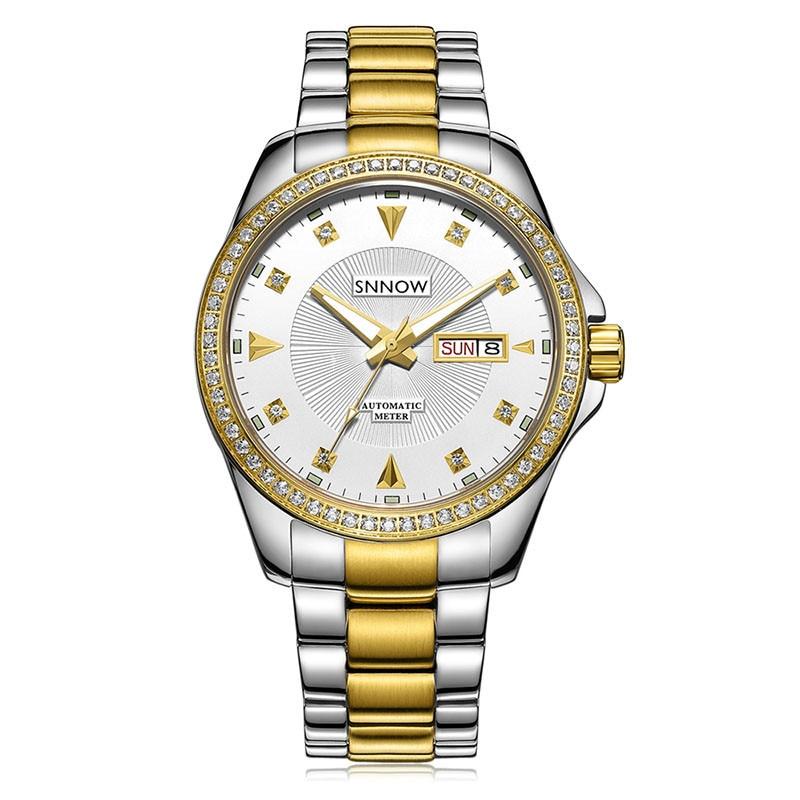 купить Luxury Brand watches men automatic mechanical men watch Crystal Business Fashion clock waterproof 100m SNNOW series CASIMA#8803 недорого