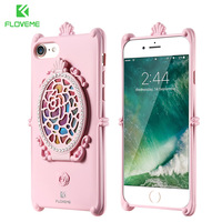 FLOVEME Mirror Back Case For IPhone 7 6 6s Plus Soft TPU Protective Case For IPhone