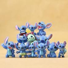 12pcs/set BOHS Mini Anime Cartoon Lilo & Stitch PVC Action Figures Toys Dolls Child Toys Gifts