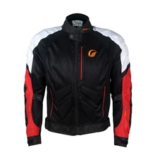 Free shipping 1pcs Spring Summer Men's Racing Jacket Motorcycle Riding Coat Textile Mesh With Protectie Equipment with 5pcs pads