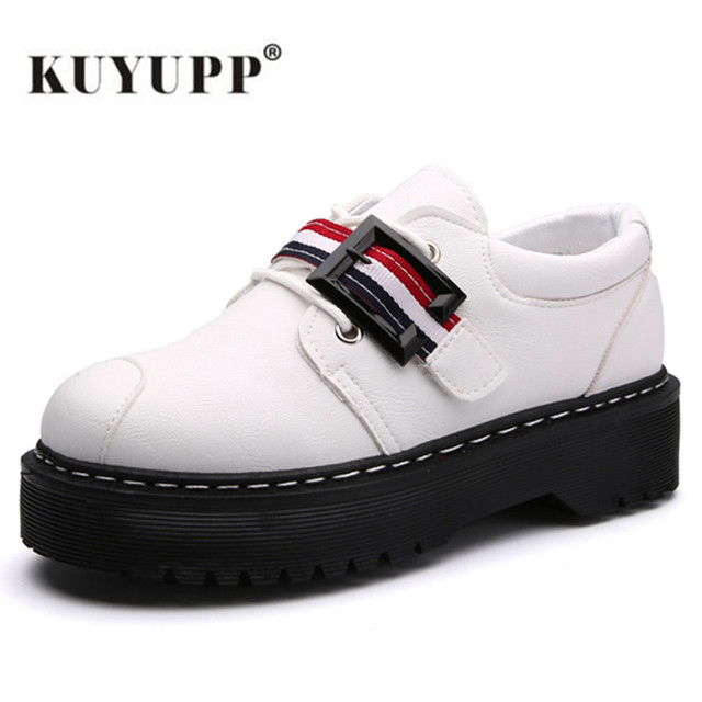 2017 Spring Autumn Platform Women Shoes Patent Leather Lace Up Shoes For Woman Casual Shoes Ladies Flats Zapatos Mujer S151