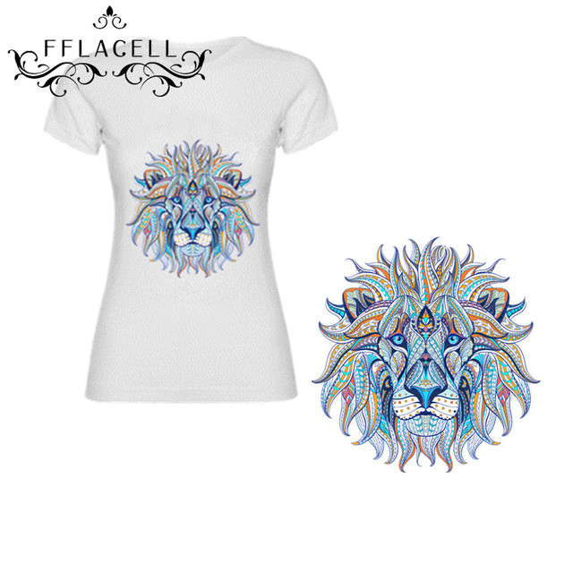 photograph relating to Printable Iron on Patches named US $0.94 5% OFFFFLACELL 2 Sizing Lion Warmth Move Printing Iron Upon Patches Applique for T blouse Denims Clothing Do-it-yourself-in just Patches against Dwelling Yard upon