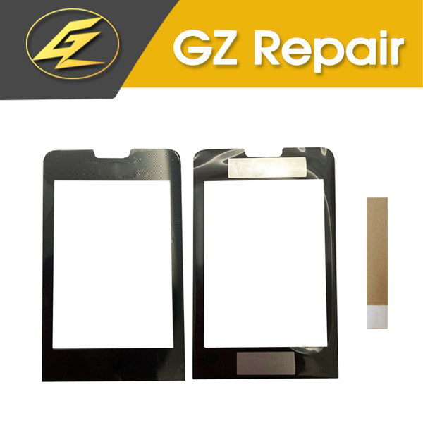 For <font><b>Philips</b></font> Xenium <font><b>X1560</b></font> Touch Screen Front Glass Lens Sensor Panel Front Cover Black Color With Adhesive Tape image