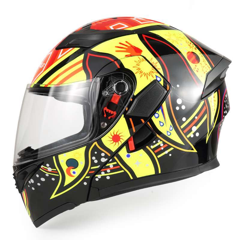 Новая модульная мотоциклетный шлем флип лошади да мотоциклиста Cascos Мото шлем каска шлем двойной козырьки 903 мужчины гоночных шлемов