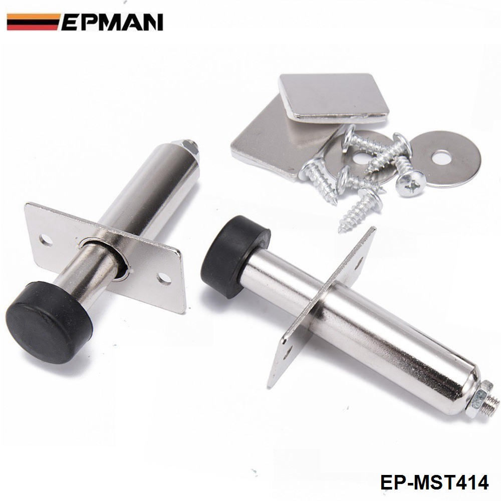 2Pcs/Set Stainless <font><b>Chrome</b></font> Door Poppers Trunk Popper Street Rod For <font><b>BMW</b></font> <font><b>E30</b></font> 3-Series EP-MST414 image