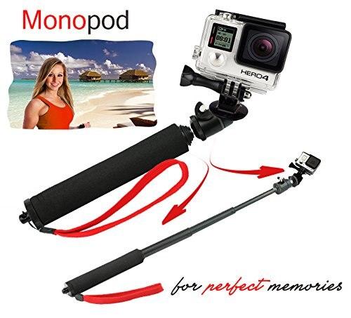 텔레 스코핑 확장 장치 Monopod Arm Pole + 삼각대 어댑터 + GoPro Hero 4 / 3 + / 3 / 2 / fpr SJCAM / YI 카메라 용 썸 스크류