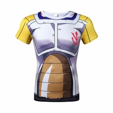 2016 dragonball sun wukong super messiah vegeta Foley sand compressed quick-drying leica digital printing short sleeve T-shirt