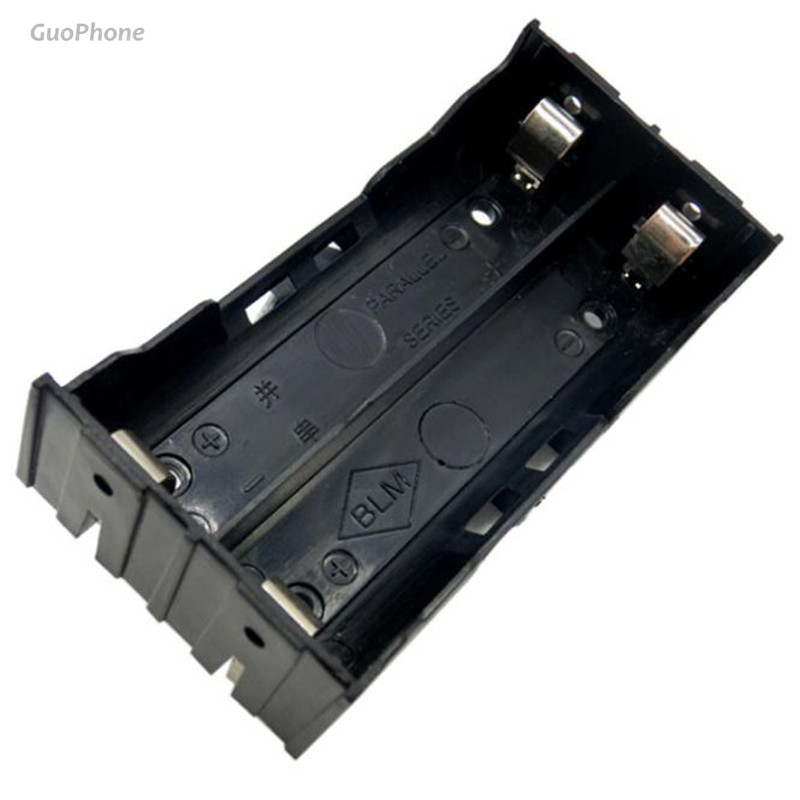 DIY ABS Storage Box Holder Case For Flashlight 2X 18650 3 7V Rechargeable Battery 4 Pins