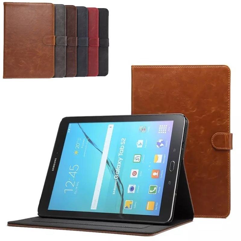 De luxe de haute qualité étui En Cuir Pour Samsung Tab S2 9.7 smart Cover pour Samsung Galaxy Tab S2 T810 T815 T813 T819 Stand Cas