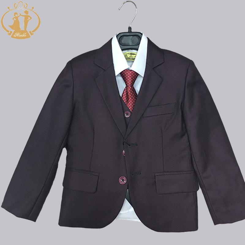 b66253c27 Nimble Brand New Formal Solid Gray Boy Suits Set 3 Pieces +Jacket + ...