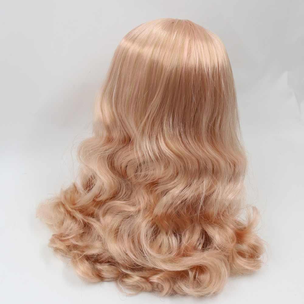 Для куклы blyth, ледяной парик, только для кожи головы и купола, волнистые, смешанные волосы, золотой, розовый, синий, фиолетовый, серый