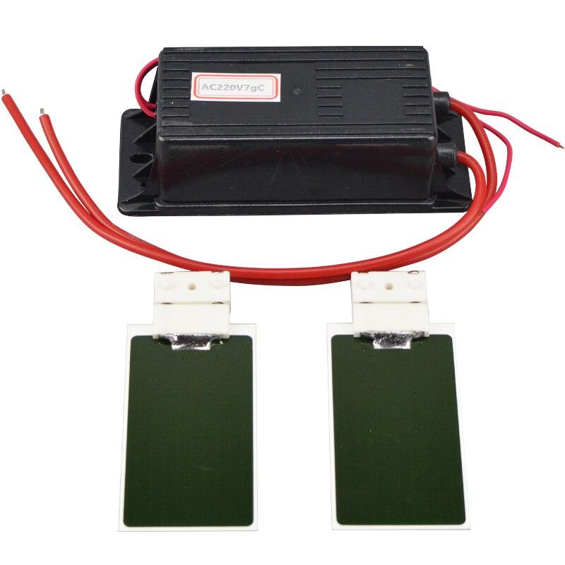 Newest 220V 7g Ozone Generator Kit Ozone Ceramic Plate DIY for Ozonizer Water Plant Air Cleaner Odor Remover Sterilizer