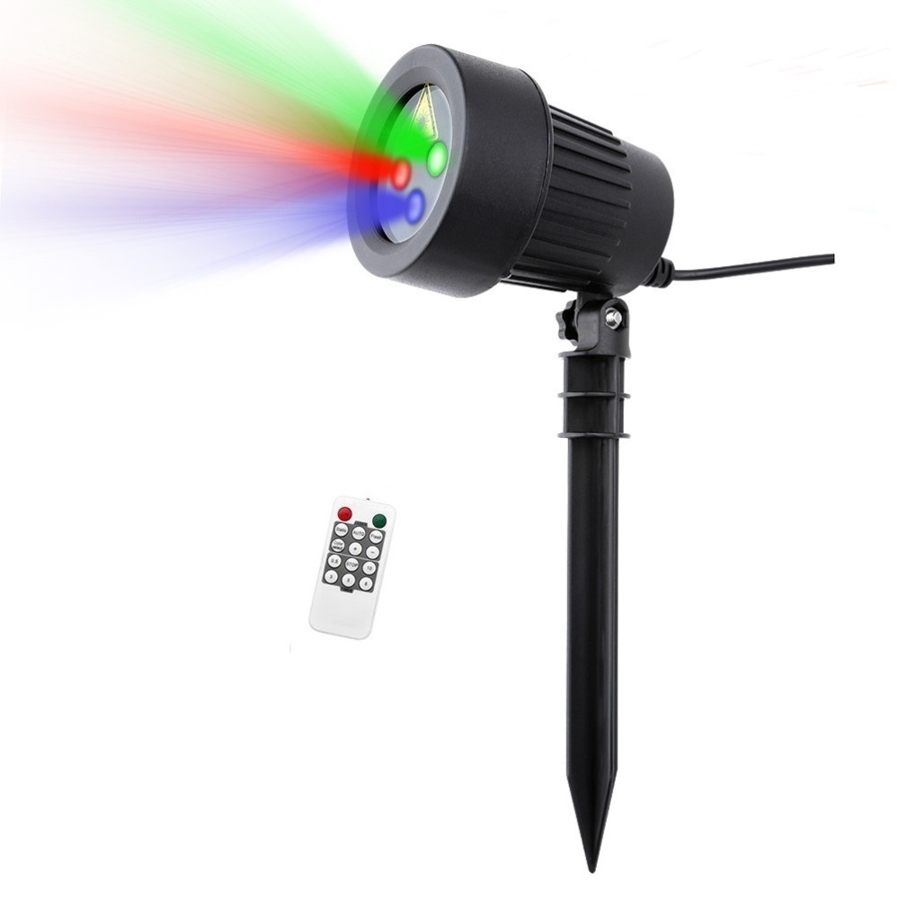 Christmas Laser Light Motion RGB Star Projector Outdoor Red Green Blue Shower Garden Decoration Waterproof Xmas Holiday Lighting