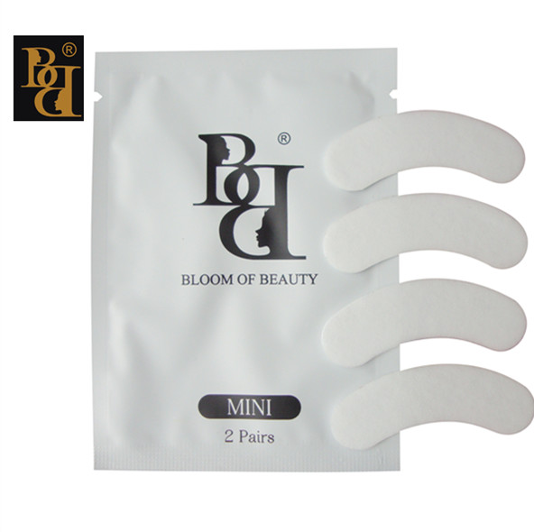 BB brand MINI lint free eye patch 50pair/lot Non Irritation Comfort Fit Mini Under Gel Eye Pad  Lint Free Adhesive Eye Patch-in False Eyelashes from Beauty & Health