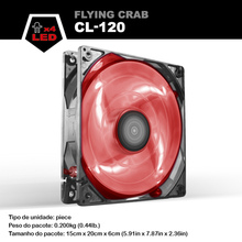ALSEYE Computer Case Fan 120mm LED Cooler, DC 12v 3pin Cooling fan 96CFM 1800RPM PC Fan for CPU Cooler / Water Cooling / Case