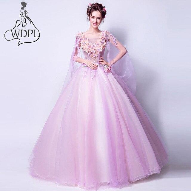 Romántico Rosa vestido de Bola Vestidos de Baile Único Sweatheart ...