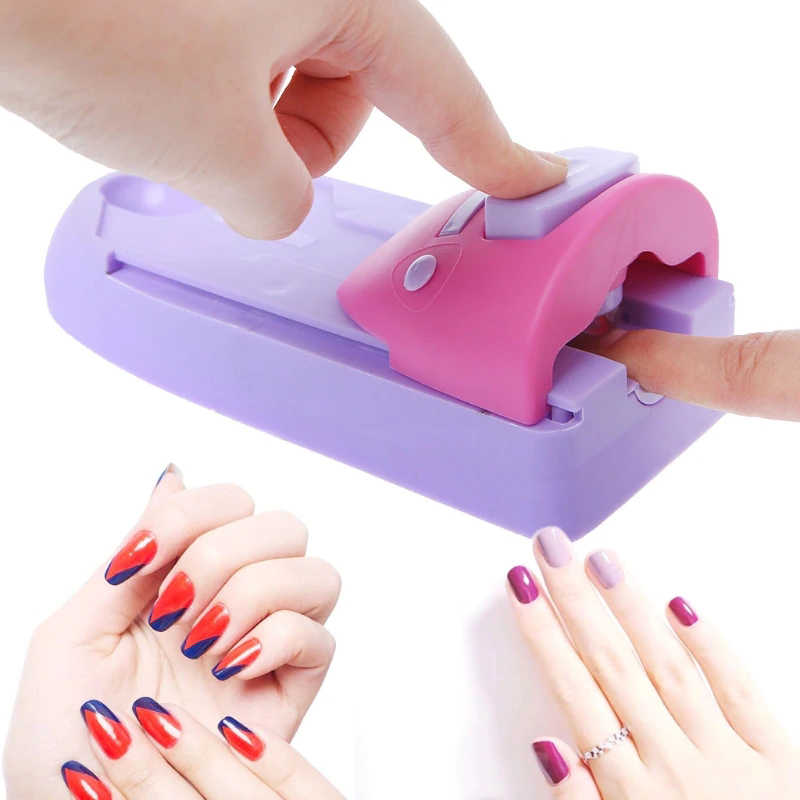 Newest DIY Nail Art Stamp Machine Printer Printing Manicure Set with 6 Metal Pattern Plates Scraper Chart Plate Tool
