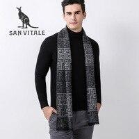 Scarves Men S Scarf Winter Warm Cashmere Shawl Wool Luxury Brand Chiffon Cashmere Plaid Pashmina For