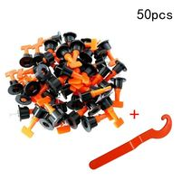 50PCS Tile Clamp Wall Leveling System Kit 1.6mm Gap Reuse Floor Clip Leveler Ceramic3 15mm Thickness Construction Tools For Tile
