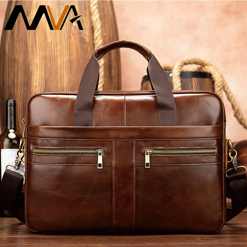 Men's Genuine Leather Briefcase Man Bags Men Briefcase Male Leather Laptop Bag Mens Briefcase Messenger Office Bags For Men 2019