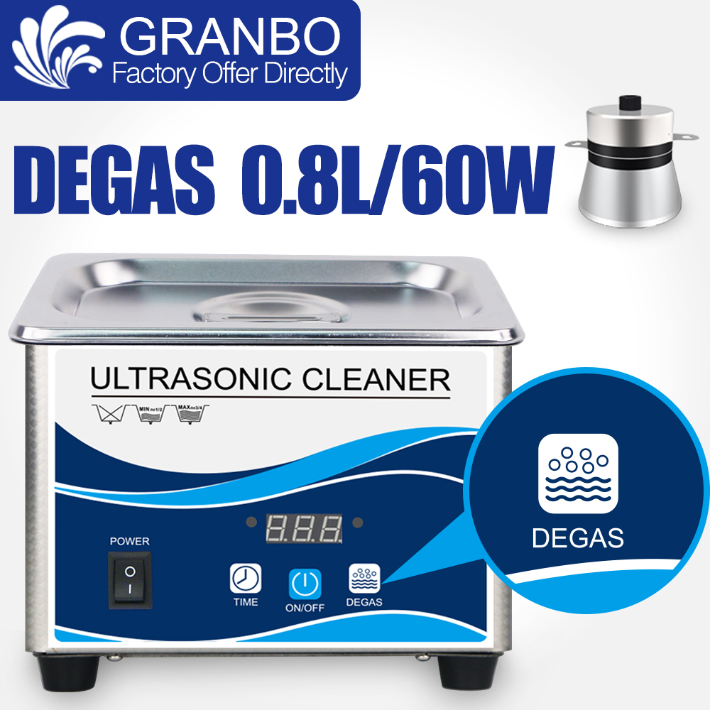 800ML Ultrasonic Cleaner 35 60W Stainless Bath Degassing Digital Timer Home Ultrasound Washer Eyeglasses Rings Watches