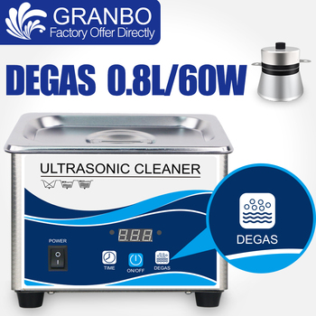 800ML Ultrasonic Cleaner 35~60W Stainless Bath Degassing Digital Timer Home Ultrasound Washer Eyeglasses Rings Watches Chains