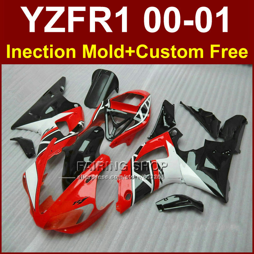 Red black body parts Injection for YAMAHA YZF1000 fairings YZFR1 2000 2001 YZF R1 00 01 YZF R1 ABS plastic fairing kit+7gifts fairing body kit bodywork for yamaha yzfr1 yzf r1 yzf1000 r1 yzf r1 2001 2000 00 01 zxgymt