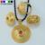 Etíope NUEVOS sistemas de la joyería de los colgantes de los pendientes del anillo de oro chapado en habesha eritrea africano set regalo de boda de la novia 2016