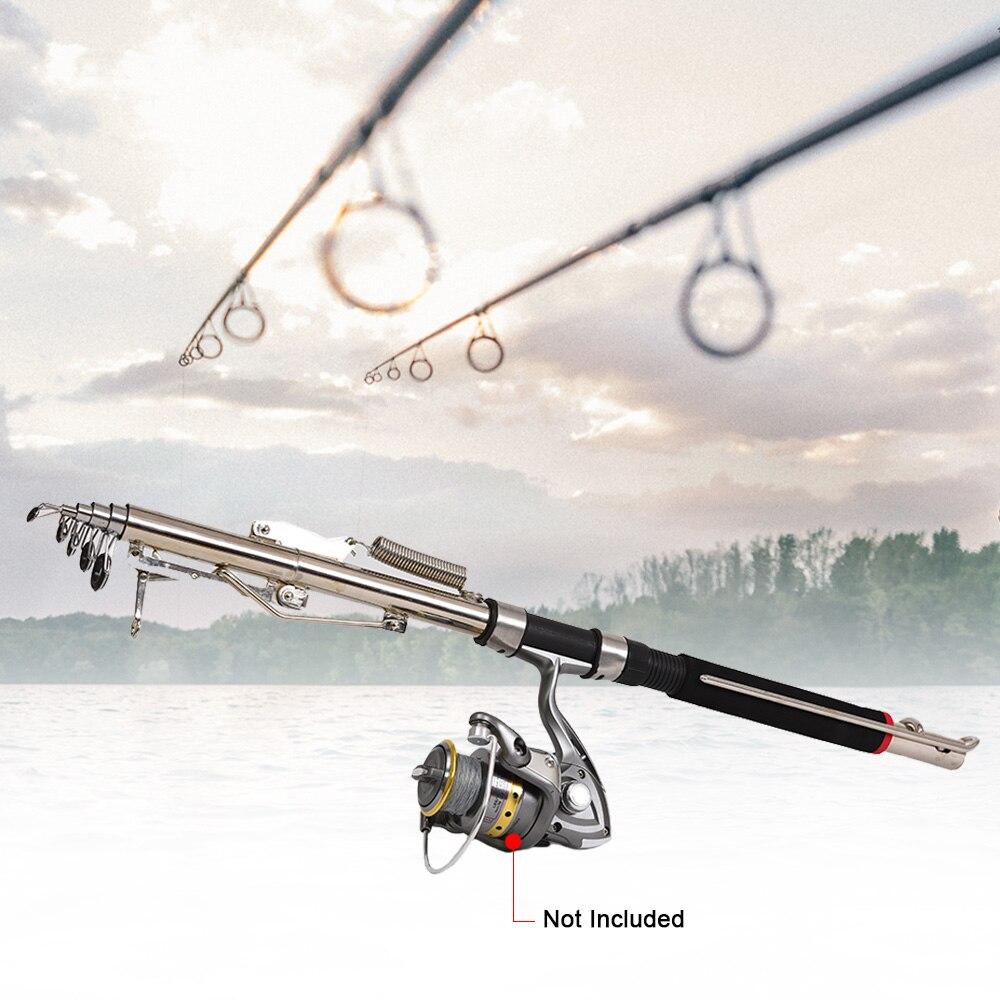 Edelstahl Automatische Angelrute Sea Lake Fishing Pole Device 2.1m