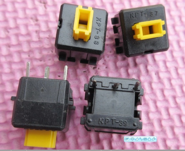 60pcs/lot made in Japan Keyboard Switches KPT 13*13   3pin  yellow