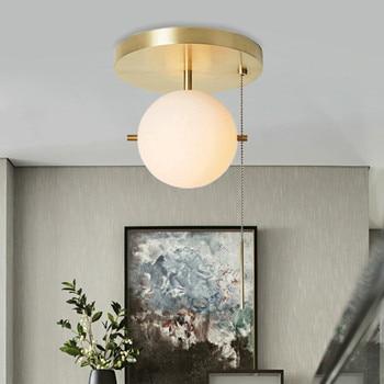 Nordic Designer Postmodern Personality Creative Minimalism Ceiling Light Pull Switch Art  Bedroom Bedside Aisle Lights
