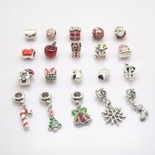 Здесь можно купить   20pcs Christmas series European beads Fit Pandora Charms  Bracelet Spacer Charm Beads Jewelry Making  DIY  js1400 Fashion Jewelry