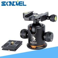 بيكي الألومنيوم BK 03 كاميرا كرة ثلاثية الرأس مع لوحة الإفراج السريع برو كاميرا ترايبود ماكس تحميل إلى 8 كجم