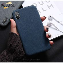 KISSCASE Business Case For iPhone X 6 6s Plus Fashion Cloth Case For iPhone 6 6s Plus 7 8 plus X Luxury Back Case Funda Capa nillkin back case for iphone 6 plus