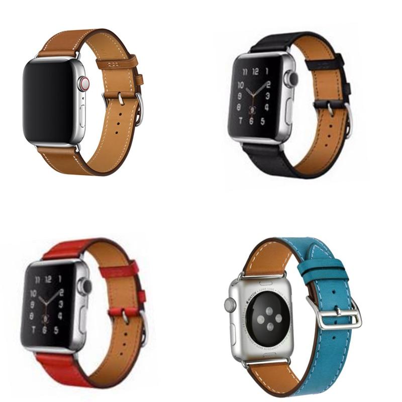Serie 4/3/2/1 Echtes Leder Armband Leder Band Für Apple Beobachten Einzigen Tour Strap 38mm 42mm 40mm 44mm
