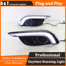 A&T car styling For Chevrolet AVEO LED DRL For AVEO led fog lamps daytime running light High brightness guide LED DRL