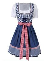 Free Shipping Women Oktoberfest Costume Octoberfest Bavarian Dirndl Maid Peasant Skirt Dress Party Female Oktoberfest