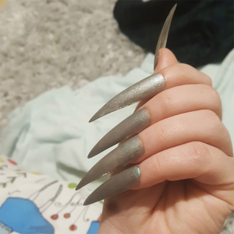 100Pcs Stiletto Long False Fake Nails Tips Manicure Artificial Nails Salon Half Cover Tips White Clear Natural Beige Choose in False Nails from Beauty Health