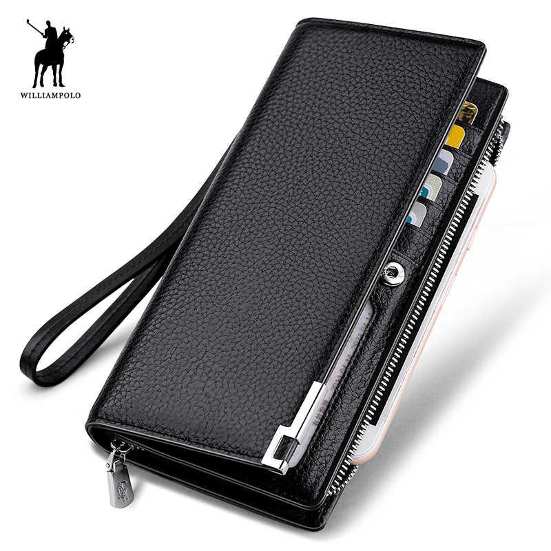 Модный Длинный дизайнерский кошелек из натуральной коровьей кожи, мужской металлический угловой Бумажник для телефона, роскошный черный кошелек #129