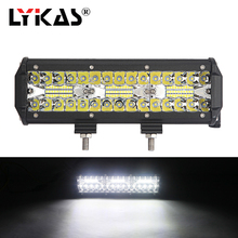 LYKAS 10 Inch 180W LED Work Light Bar Combo Beam for Jeep Driving Fog Lights Offroad SUV 4WD Truck ATV