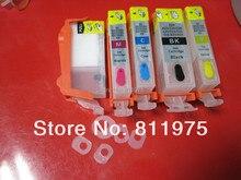 Для CANON IP3600 IP4600 MP540 MP620 MP630 MX860 MX870 принтер CLI-221refillable PGI-220BK картридж с автоматический возврат откалывает