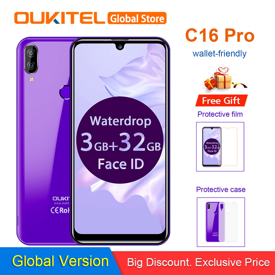 OUKITEL C16 Pro 5 71 Android 9 0 19 9 MT6761P 3GB 32GB Smartphone Fingerprint Face