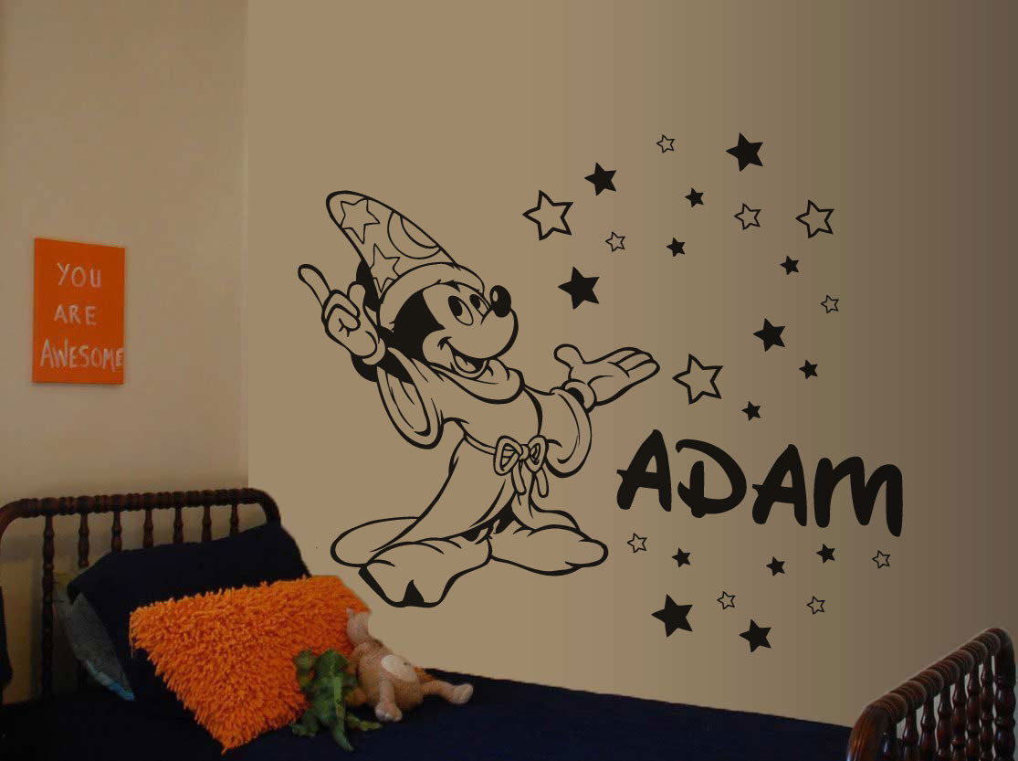 2016 New Carton Removable Mickey Mouse Wall Sticker Decal
