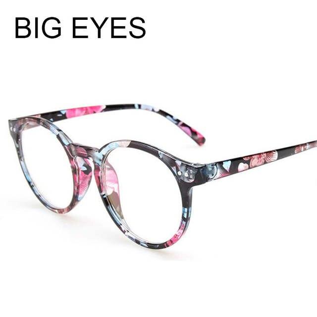 0f792c5944b Online Shop 2018 Newest Fashion Cheap Vintage Round Eyeglasses Women  Optical acetate Eyewear Frame Nerd Oversized Eye Glasses Clear Lens
