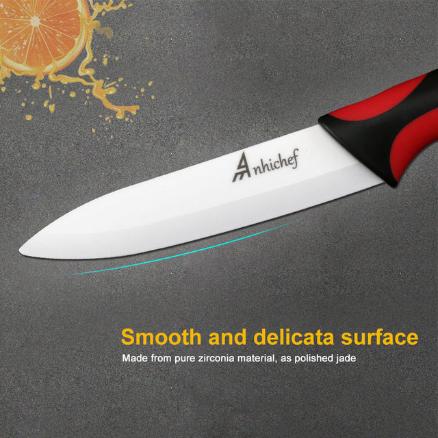 "Kitchen Knife Ceramic Knife Cooking set 3"" 4"" 5"" 6"" inch + peeler White Blade Paring Fruit Vege Chef Knife Kitchen Tools"