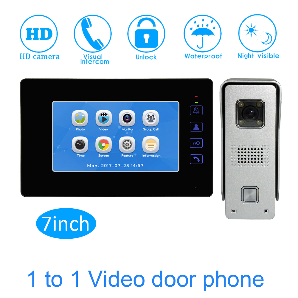 9 inch Touch Screen Color Display TFT-LCD Smart Home Access control system Video door phone Video intercom system talk-back шкаф дверь со стеклом слева lumio 1