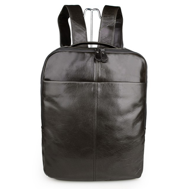 Genuine Leather Men Women Backpack cb5feb1b7314637725a2e7: Brown Gray