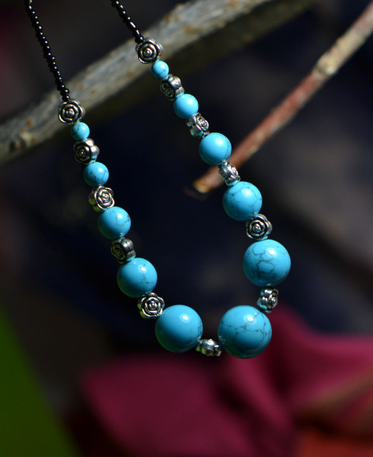 National accessories miao silver tibetan jewelry necklace turquoise female pendant csxl010 tibet jewelry