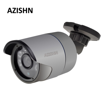 AZISHN H.265/H.264 5MP 2592*1944 IP Camera Surveillance Bullet Camera 6 Array IR LEDS IP66 metal waterproof CCTV DC 12V/48V PoE