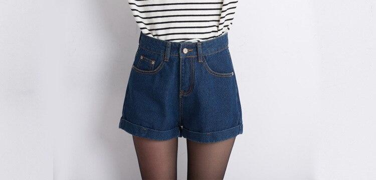 2016 New Limited Cotton Dark Boyfriend Jeans For Women American Apparel Women Jeans Korean Summer Denim Shorts Wide Leg Female knowledge cotton apparel кардиган knowledge cotton apparel модель 28184321